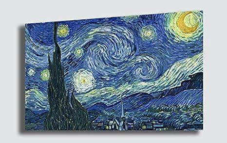 Quadro Notte stellata VINCENT VAN GOGH - RIPRODUZIONE STAMPA SU TELA Quadri  Moderni Arte Moderno Astratto Cucina Soggiorno Camera da letto ...