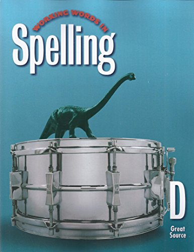 Working Words in Spelling: Student Workbook, Level D