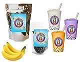 10+ Drinks Banana Boba Tea Kit: Tea Powder, Tapioca Pearls & Straws By Buddha Bubbles Boba