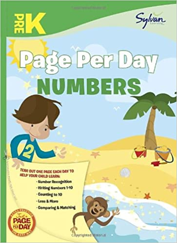 Pre-K Page Per Day: Numbers (Sylvan Page Per Day Series, Math ...