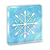 Snowflake Acrylic Office Mini Desk Plaque Ornament Paperweight