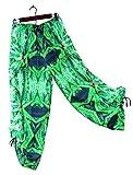 Hawaiian Floral Harem Pants Blue Widow Wedding Resort Beachwear XS/S