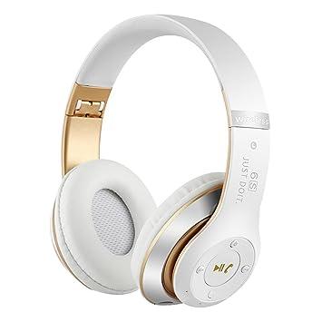 Auriculares inalámbricos Bluetooth altavoz de control de voz universal para teléfono móvil de subwoofer micrófono incorporado de reducción de ruido 6S para ...