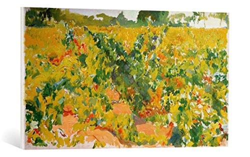 Kunst fur Alle Cuadro en Lienzo Joaquin Sorolla y Bastida Estudio de Vinas - Impresion artistica, Lienzo en Bastidor, 90x50 cm