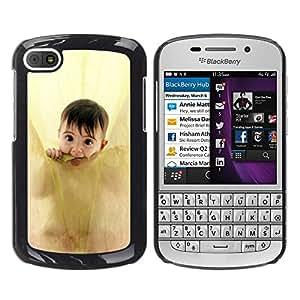Paccase / SLIM PC / Aliminium Casa Carcasa Funda Case Cover - Anne geddes cute baby - BlackBerry Q10