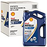 Automotive : Shell Rotella T6 Full Synthetic Heavy Duty Engine Oil 5W-40, 1 Gallon, Pack of 3