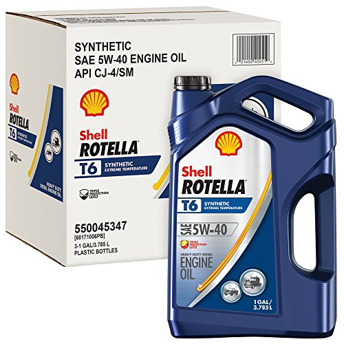 Rotella T6 Synthetic Diesel Motor Oil 5W-40 CJ-4, 1 Gallon -
