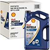 Rotella T6 Synthetic Diesel Motor Oil 5W-40 CJ-4, 1 Gallon - Pack of 3