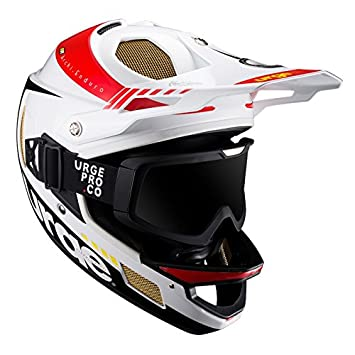 Urge Archi-Enduro RR + Casco combinada, Color Blanco/Negro, tamaño Medium
