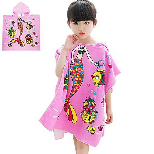 STAR-TOP Cute Baby Hooded Towel, 100% Organic Cotton,Soft,Children's Cartoon Bathrobe for Baby Gifts (Tiger Terry Bath Towel)