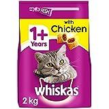 Whiskas 1+ Dry Cat Food Biscuits Chicken & Veg 2kg