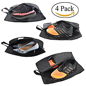 Travel Storage Shoe Bags for Men Women Accessories Cloth Pouch with Clear Window