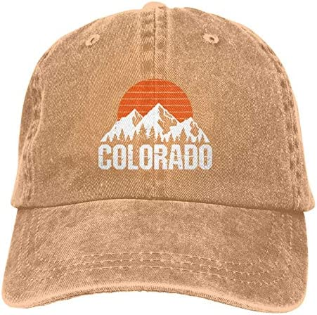 Colorado Mountain & Sun Unisex Vintage Baseball Cap Washable Cotton Trucker Cap Dad Hat