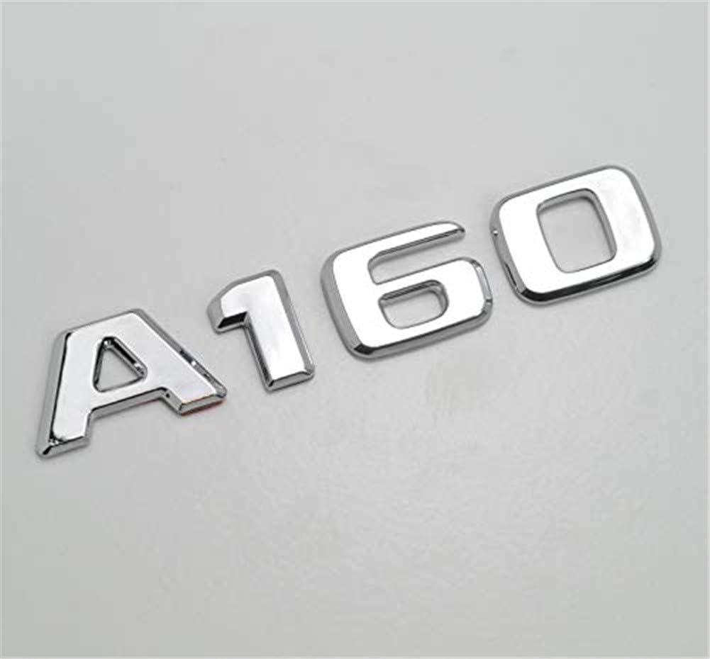 A MG Auto Model Powerful Insignia de ba/úl con Tapa de ba/úl de Letras cromadas Plateadas A160 para A Class W176 W177