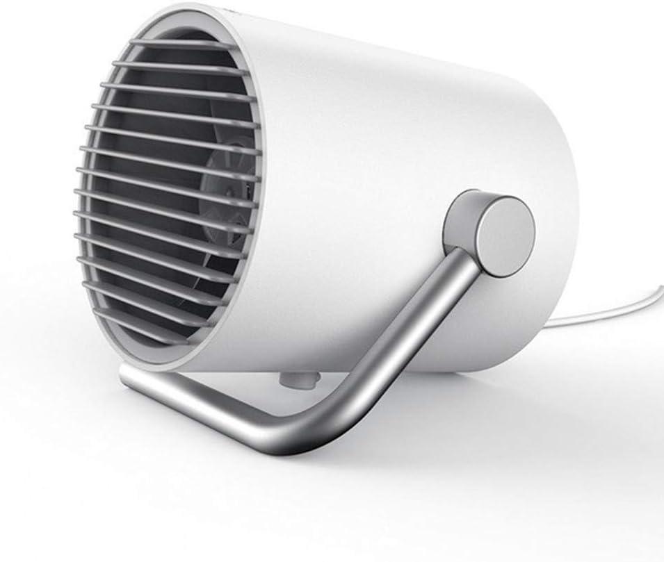 WYFDM Pequeño Ventilador USB Personal, Mini Escritorio portátil Ventilador con Doble Cuchillas Control táctil Ventilador de enfriamiento Ajustable para el hogar, Oficina, al Aire Libre Trave,White: Amazon.es: Hogar