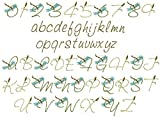 ThreaDelight ABC Machine Embroidery Designs Set - Dragonfly Alphabet Embroidery Designs Complete Alphabet 4x4 Hoop - CD