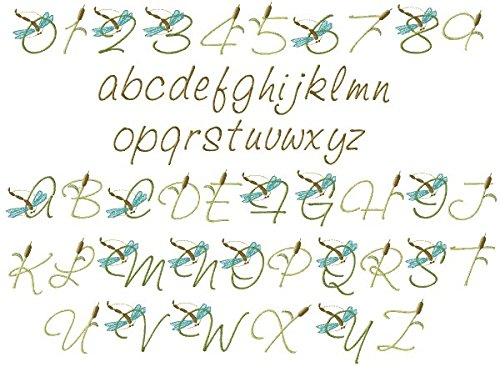 ThreaDelight ABC Machine Embroidery Designs Set - Dragonfly Alphabet Embroidery Designs Complete Alphabet 4x4 Hoop - CD by ThreaDelight