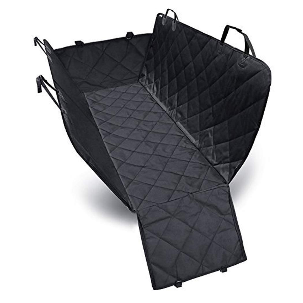 GAIBO Pet Seat Covers for Back Seat with Side Flaps, Waterproof Dog Back Seat Cover Predector Nonslip Easy to Clean, for Cars Trucks SUV,Black