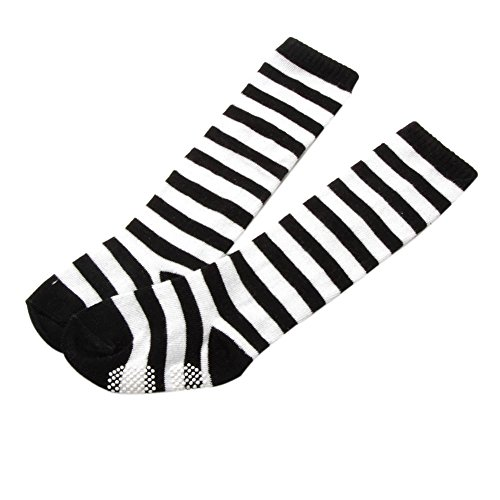 Smart Toddler Infant Stockings Black Stripe Baby Girls Tall Knee High - Socks Tall Striped White