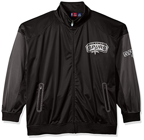 Track Jersey Jacket - NBA San Antonio Spurs Men's Big & Tall Team Track Jacket, Black/Charcoal, 4X