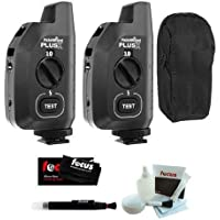 PocketWizard Plus X Radio Trigger with 10 Channels (2 Pack) + Carrying Bag for 2 Triggers