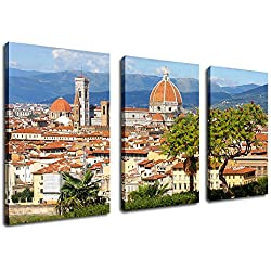 Canvas Wall Art Prints Florence Italy Print on Canvas Cityscape Canvas Art - Cradle of the Renaissance Painting Pictures Artwork for Living Room Bedroom Interior Decoration
