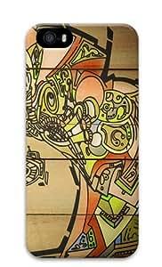 Wood Graffiti Custom Design iPhone 5S/5 Protective Case Cover - Polycarbonate