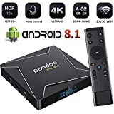 Pendoo X10 Plus Android TV Box 8.1 S905X2 4GB 32GB, Android TV Box 4K Ultra HD, Android Box with Voice Remote