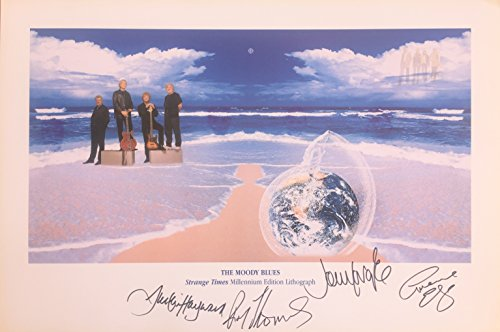 Autographed Limited Edition Lithograph - Moody Blues Autographed Strange Times Limited Edition Lithograph