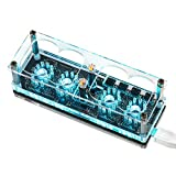 Nobsound Nixie Tube Clock DIY (Without Tubes), Mini Desk Clock, IN-12A /IN-12B, Vintage Retro Fun Gift & Project