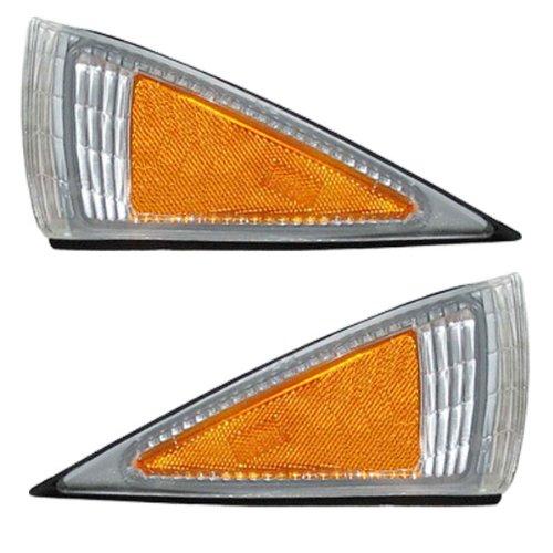 1995-1999 Chevy/Chevrolet Cavalier Corner Park Light Turn Signal Marker Lamp Pair Set Right Passenger AND Left Driver Side (1999 99 1998 98 1997 97 1996 96 1995 95)