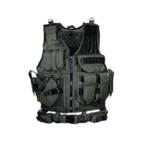 UTG 547 Law Enforcement Tactical Left  Handed Vest, Black -