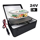 Triangle Power Personal Portable Oven, Electric Slow Cooker For Food,Mini Oven For Meals Reheat,Food Warmer with Lunch Bag For Car(24V)