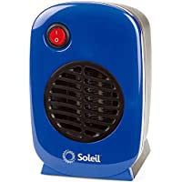 Personal, Portable Electric Ceramic Space Heater, 250 Watt MH-01 (Blue)