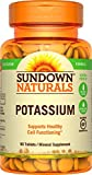 Sundown Naturals Multi-Source Potassium, 90 Tablets (Pack of 6)