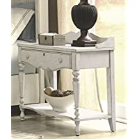 American Woodcrafters 3710-410 Newport Antique Night Table, Mini, White