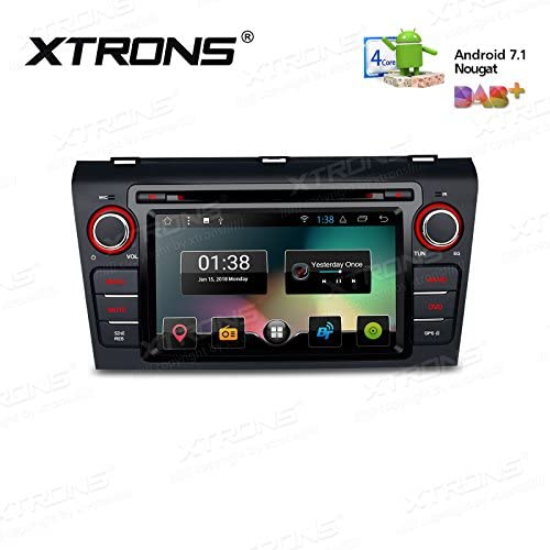 XTRONS 7 Android 7.1 Quad Core Capacitive Touch Screen Car Stereo Radio DVD Player Screen Mirroring Function OBD2 DVR for Mazda 3