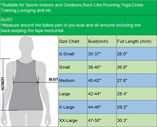 Neleus Women's Dry Fit Yoga Tank Workout Running Shirts