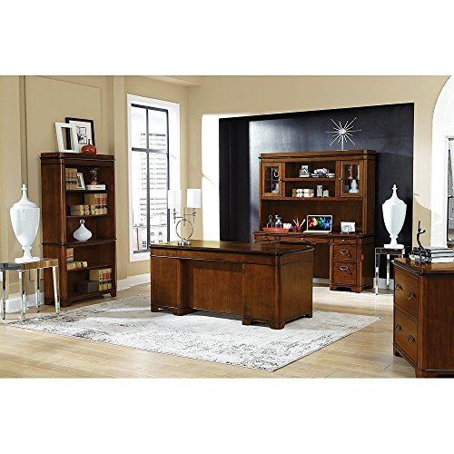 Kensington Complete Office Suite Warm Fruitwood Finish/Black Accent Finish Weight: 863 lbs by Martin Furniture