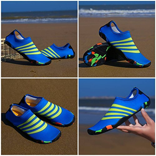 Shoes Outdoors Swim Casual Water Sports Blue Socks Women Men Bigood Unisex Aqua Ywq0t0Z