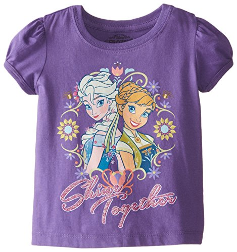 Disney Girls' Frozen Anna and Elsa T-Shirt
