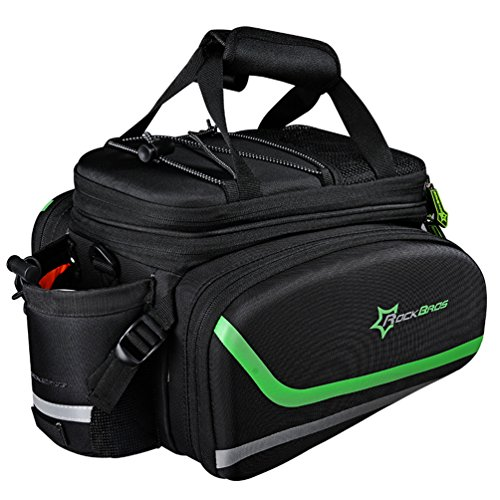 ROCK BROS Bike Panniers for Bicycle, Bike Trunk Bag Rear Bike Rack Bag for Travel Bicycle eBike Accessories Cargo Carrier Pack