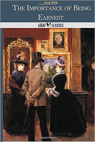 Téléchargements ebook gratuits pour kindle The Importance of Being Earnest 1495286266 iBook