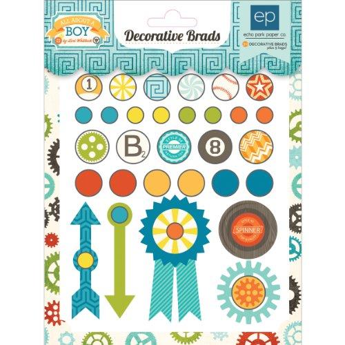 All About A Boy Decorative Brads-