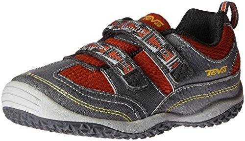 Teva Girls' Cartwheel Sneaker - Dark Grey/Red - 12 M US L...