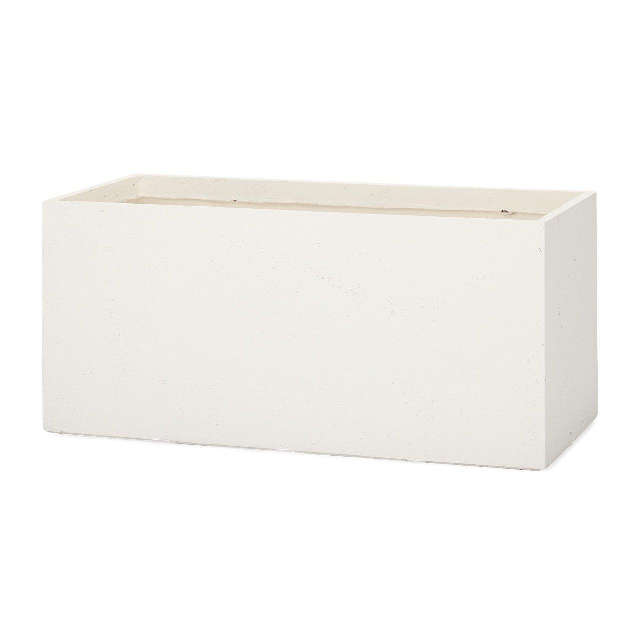 植木鉢 大型 ファイバークレイプロ ラムダ 長角プランター 60 ホワイト B00LSBK2X0  ホワイト 60