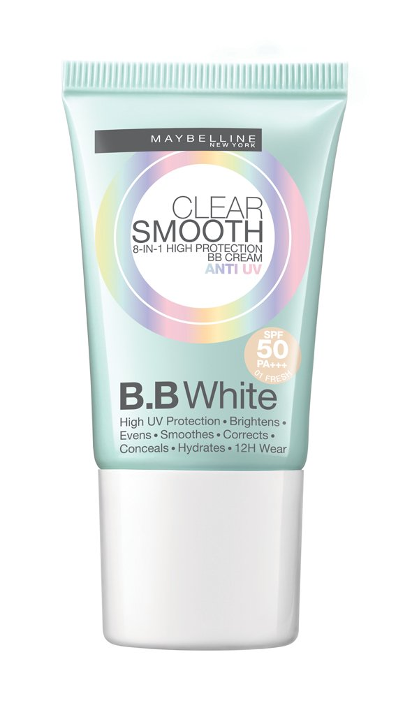 Maybeline Clear Smooth 8in1 High Protection Bb Cream Anti Uv Spf50 Pa+++ 18g