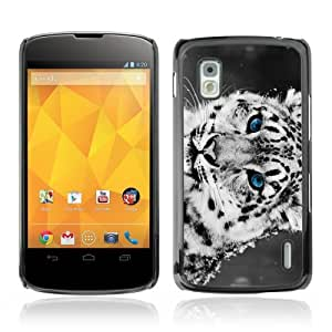YOYOSHOP [Cool Snow Leopard] LG Google Nexus 4 Case