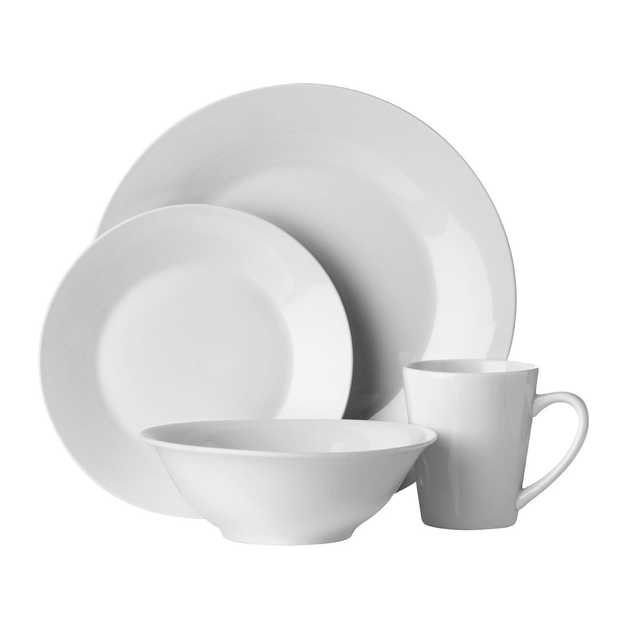 32 Piece White Porcelain Dinner Service Serving Side Plates Mugs ...