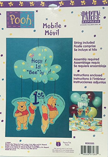 Winnie the Pooh 1st Birthday Hanging Mobile